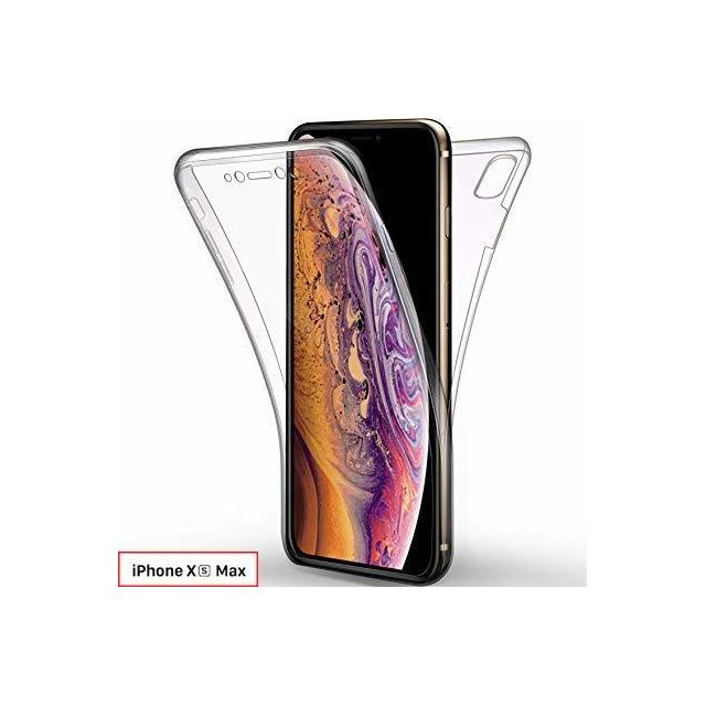 coque iphone xs max transparente avant arriere