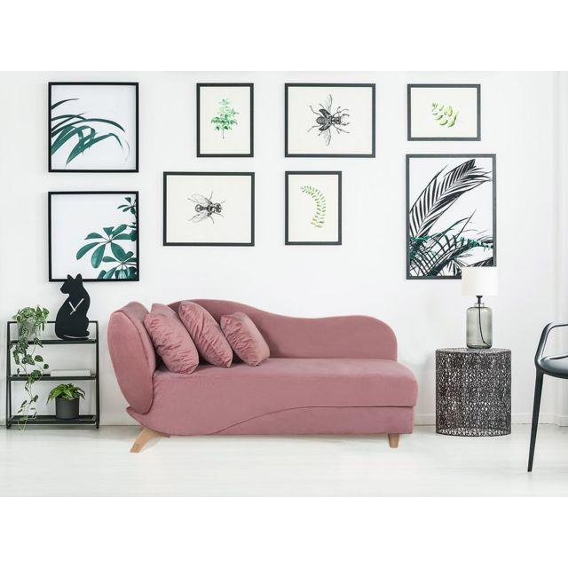 BELIANI Canapé rose côté gauche MERI - rose