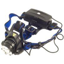 Xcsource - Lampe torche frontale à Led Cree Xm-l T6 1600 lumen avec zoom + 2X 18650 rechargeable Batterie