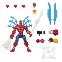 Hasbro - Figurine Marvel Super Hero Mashers Deluxe : Spiderman attaque tournoyante
