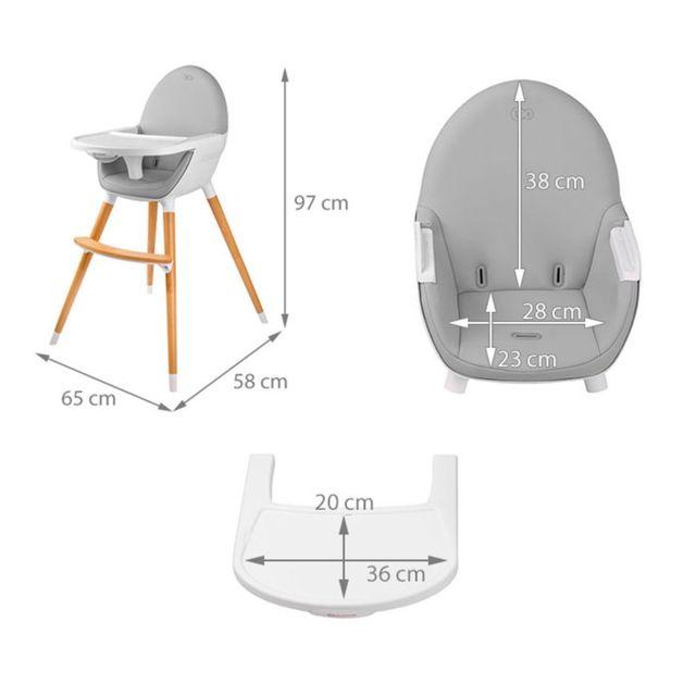 2en1 style chaise bébé haute bois Noir nordique Fini scandinave 3uKcl1FTJ