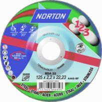 Norton Clipper - Disque de tronconnage Norton tout en un : couper surfacer polir Ø 125 pour meuleuse d'angle- 66252921592