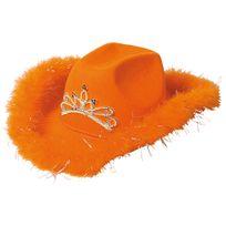 Folat - Chapeau De Cow Boy Avec Diadème Lumineux Orange - Femme