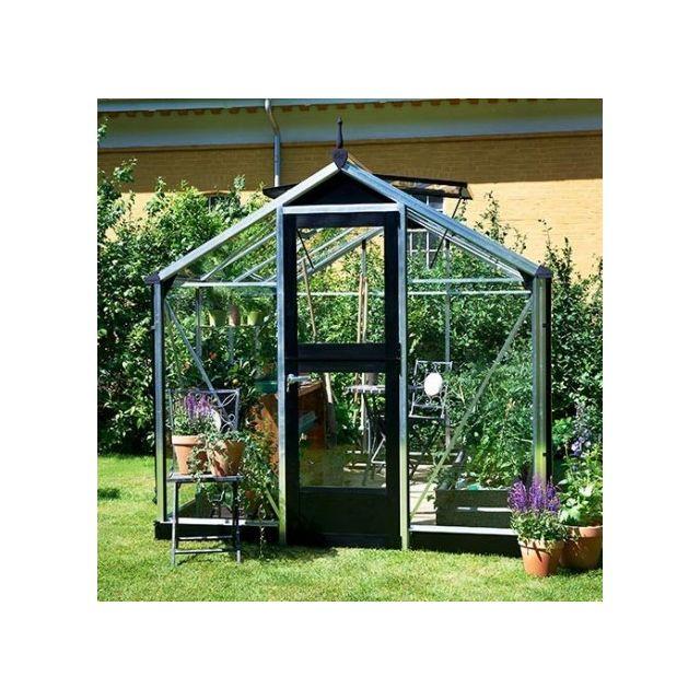 Atout Loisir Serre en verre trempé Compact 5 m², Couleur Silver, Base Sans base - longueur : 0