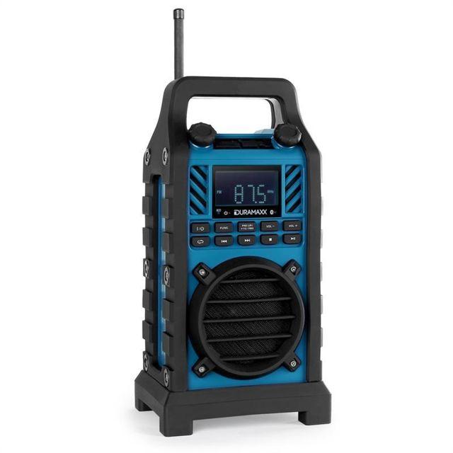 DURAMAXX 862-BT-BL enceinte chantier batterie MP3 AUX bleu
