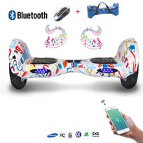 COOL AND FUN - COOL&FUN Hoverboard Batterie Samsung, Bluetooth,Scooter électrique Auto-équilibrage,gyropode connecté 10 pouces Motif design