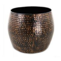 Zago - Table d'appoint en acier finition cuivre martelé H40 cm Hamm