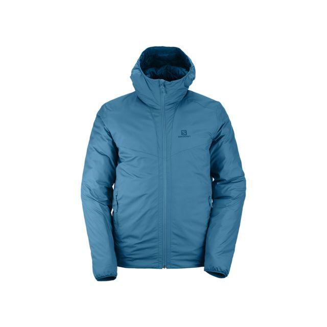 Salomon Manteau à capuche Drifter Loft Bleu canard Bleu