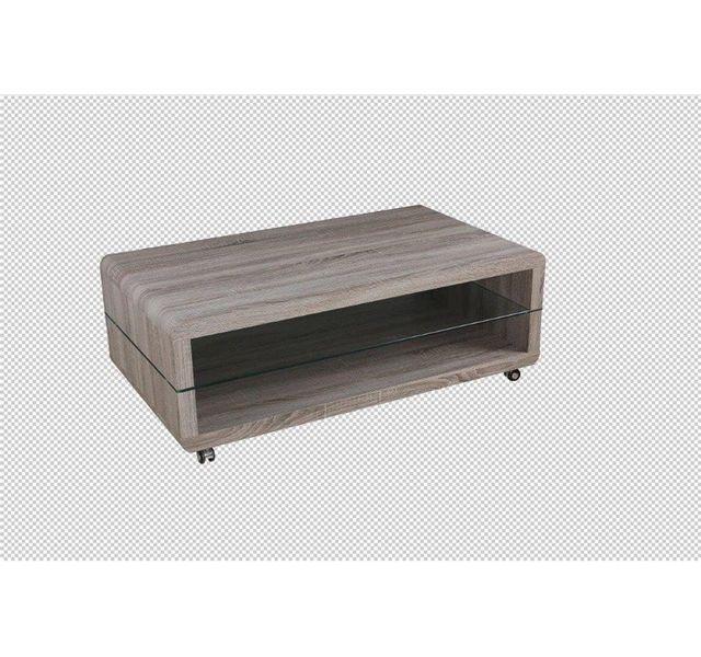 CHLOE DESIGN Table basse design PINTA - bois foncé