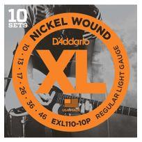 D'ADDARIO - 10 Jeux Exl110-10P - cordes guitare électrique