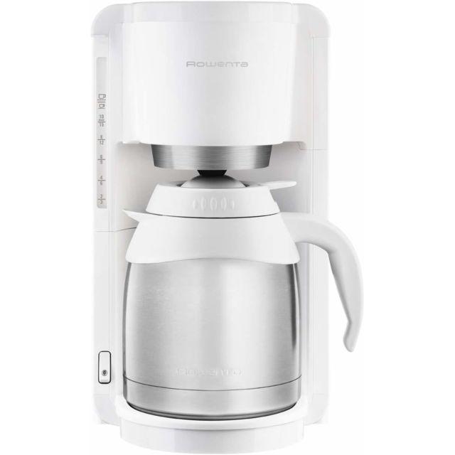 ROWENTA cafetière électrique de 1,25L pour 12 tasses 850W blanc