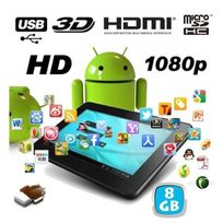 Tablette tactile capacitif Android 7 pouces Full Hd 1080p 3D 8 Go