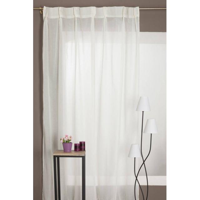 rideaudiscount rideau galon fronceur grande hauteur effet lin pas cher achat vente rideaux. Black Bedroom Furniture Sets. Home Design Ideas