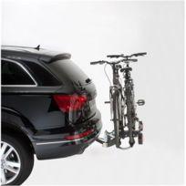 Mottez - Porte-vélo plateforme, basculable sur attelage Premium 2 vélos A018P2RA, fixation sur boule d'attelage