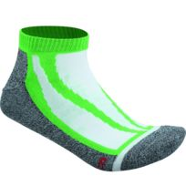James & Nicholson - Chaussettes basses de sport - Jn209 - vert et gris - sneakers homme femme