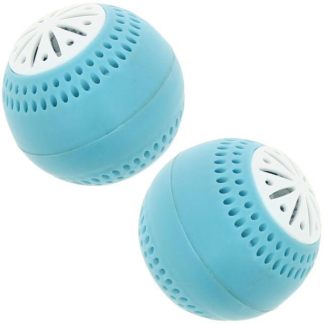 Promobo Lot 2 Boules Frigo Diffuseur Anti-odeur Désodorisant Freshball Bleu