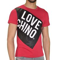 Moschino - Love - T Shirt Manches Courtes - Homme - Love Chino - Rouge