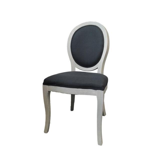 atmosphera 2 chaises m daillon cl on grises pas cher achat vente chaises rueducommerce. Black Bedroom Furniture Sets. Home Design Ideas