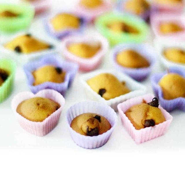 Astuceo 24 moules à gâteaux en silicone couleur pastel