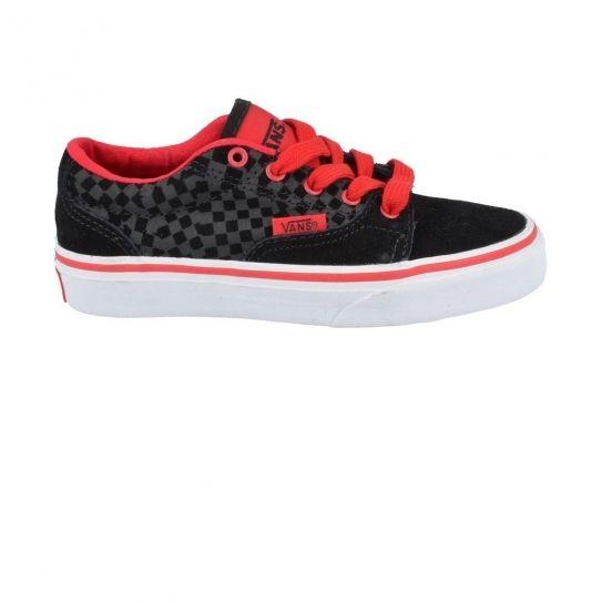 Vans Chaussures Kress BlackRed Jr h16 pas cher Achat