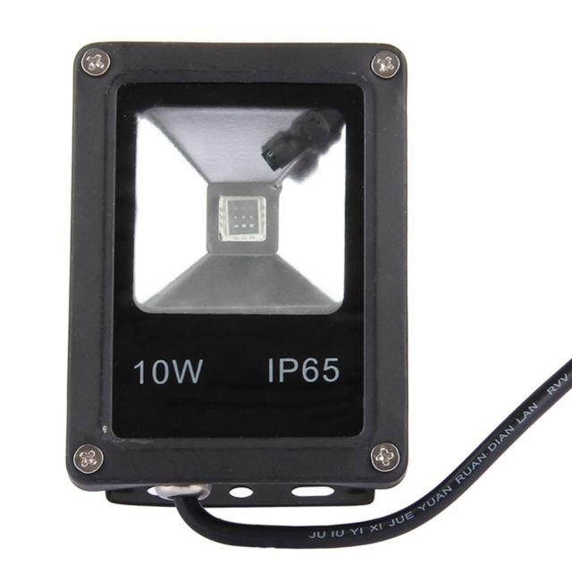 Wewoo Projecteur Led Noir 10w Rgb Ip65 Etanche Lampe De Exterieur