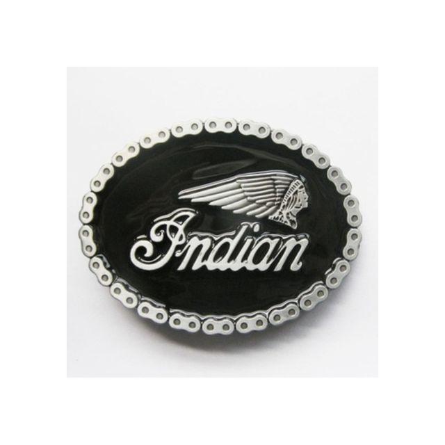 4519ff97e0f Universel - Boucle de ceinture indian noir tour look chaine de moto bike