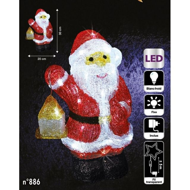 Pere Noel Lumineux - Achat Pere Noel Lumineux Pas Cher - Soldes
