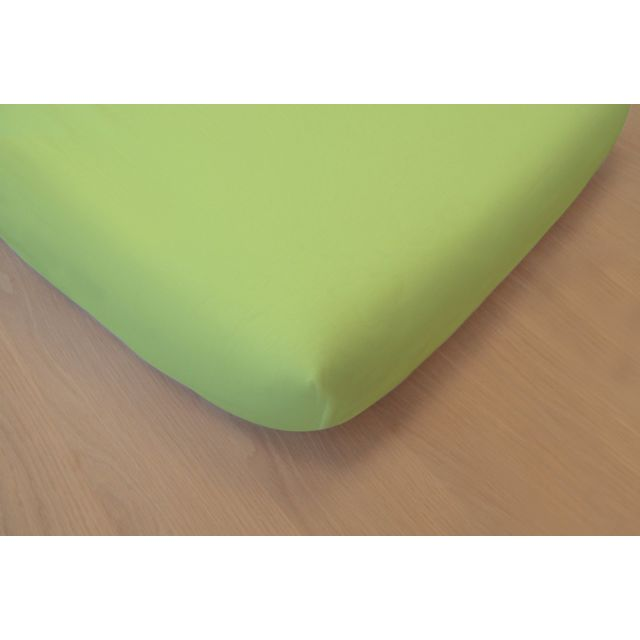kadolis drap housse coton bio 90x140 cm vert 90cm x 140cm pas cher achat vente draps. Black Bedroom Furniture Sets. Home Design Ideas