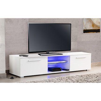 Meuble Tv Led Blanc/Chêne - Usaha