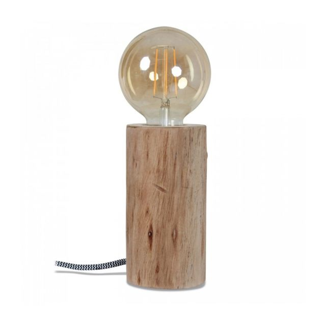 Wadiga Lampe Nature Bois - Hauteur 16cm x diamètre 9.5cm