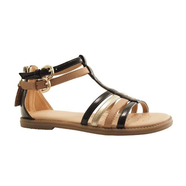 Gd Enf Pas Cher Js Sandale 29 Geox Noir france Salome Karly NwX80OknP