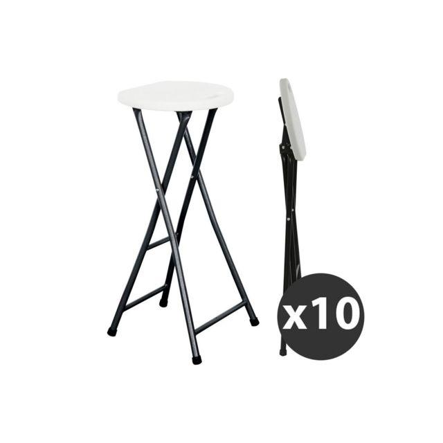 mobeventpro tabouret de bar pliant lot de 10 pas. Black Bedroom Furniture Sets. Home Design Ideas