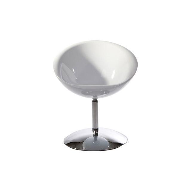 Fauteuil design 59x64x77cm Bowling - blanc