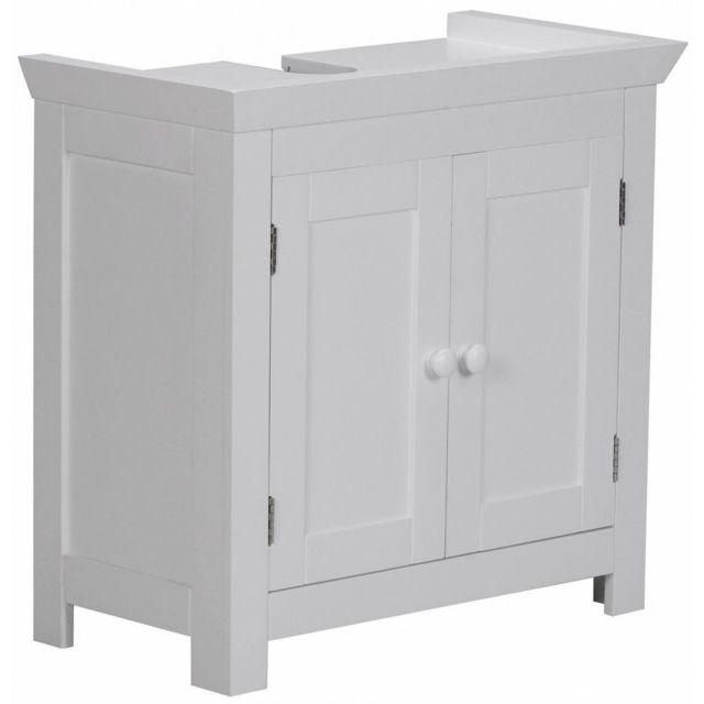 Comforium meuble sous vasque de salle de bain 2 portes - Meuble bas salle de bain pas cher ...