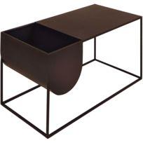 ZAGO - Table basse en métal avec rangement intégré Expo