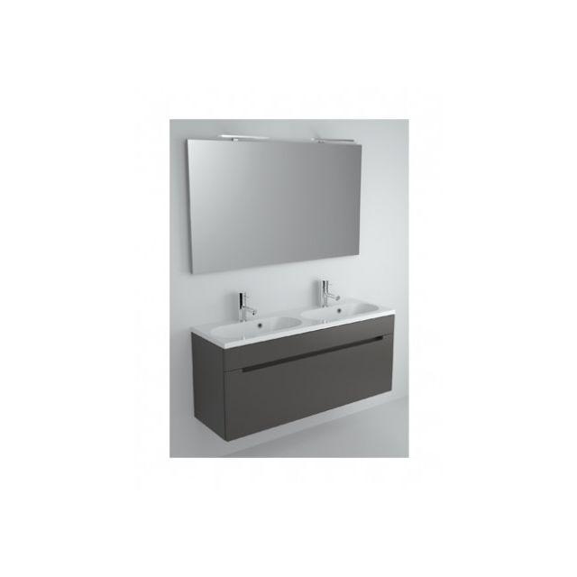 Riho Ensemble meuble & lavabo Enna Set 47 en bois laqué brillant 120x38 H 53,5 cm