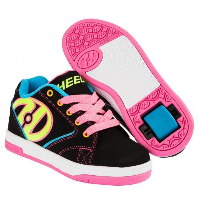 38ff976efd82f Heelys - chaussure a roulette Propel 2.0 Black neon - pas cher Achat   Vente  Chaussures à roulettes - RueDuCommerce