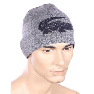 lacoste homme bonnet 100 laine gris et bleu marine r versible rb3531 pas cher achat. Black Bedroom Furniture Sets. Home Design Ideas