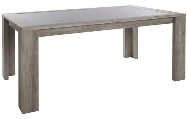 Comforium Table fixe rectangulaire contemporaine 190 cm coloris mara graphite