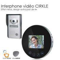 SecuriteGOODdeal - Interphone video Miroir rond