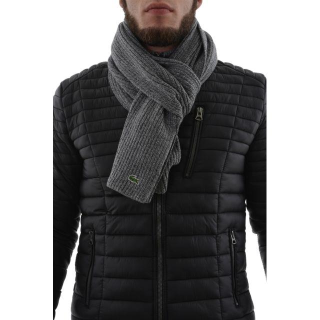 6eda05ff52b7 Lacoste - Echarpe re4212 gris Taille Unique - pas cher Achat   Vente  Echarpes, foulards - RueDuCommerce