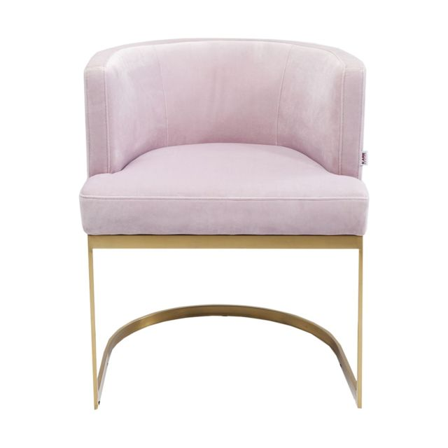 Karedesign - Chaise avec accoudoirs Rumba Kare Design Rose