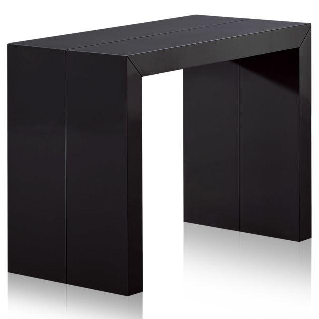 MENZZOPREMIUM Table Console Nassau XL Laquée Noir