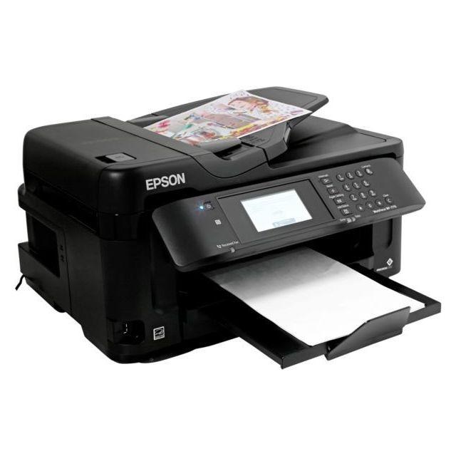 EPSON Imprimante jet d'encre WF-7715DWF Impression sans marge : Oui Poids net : 18.700 Tactile : Oui Usage : Semi-professionnel ...