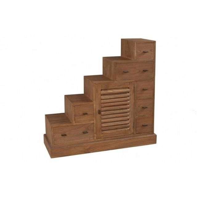 Inside 75 Meuble escalier 7 tiroirs Laura en mindi style colonial
