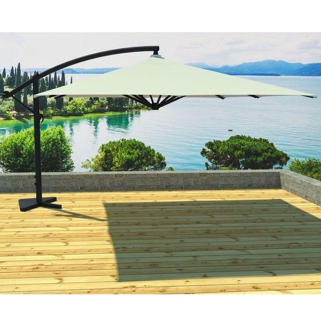 paris prix parasol d port carr soli 300cm cru pas cher achat vente parasols. Black Bedroom Furniture Sets. Home Design Ideas