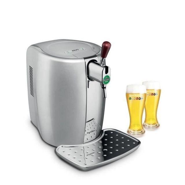 Krups Machine à bière Argent + coffret 2 verres