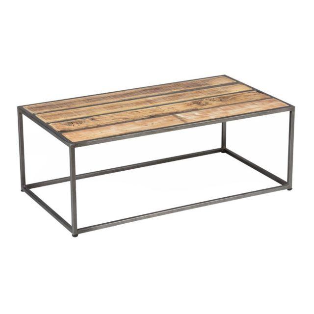 Tousmesmeubles Table basse Métal/Bois - Knox
