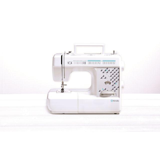 KLINDO Machine à coudre KSEW8660-16 Créez votre propre style !- Eclairage- Poignée de tranpsort- Coupe fil- Boutonnière automatique