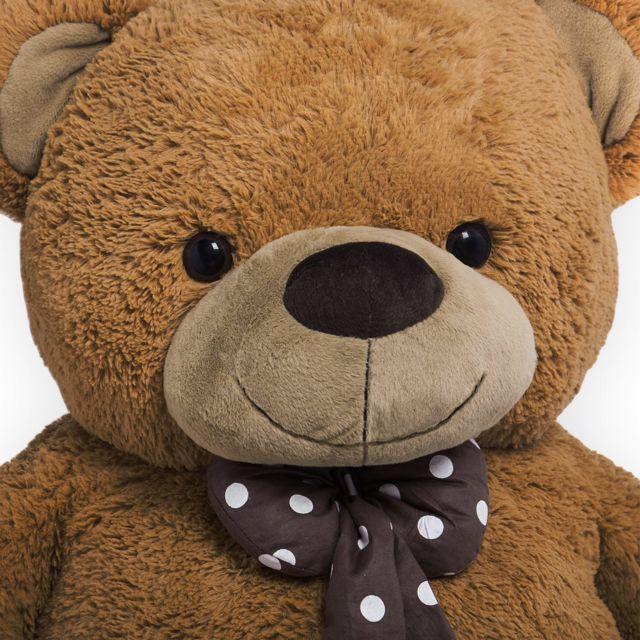 Rocambolesk - Superbe Grand Nounours Géant Ours En Peluche Ourson Xxl Teddy Bear 150 Cm diag - Brun Neuf
